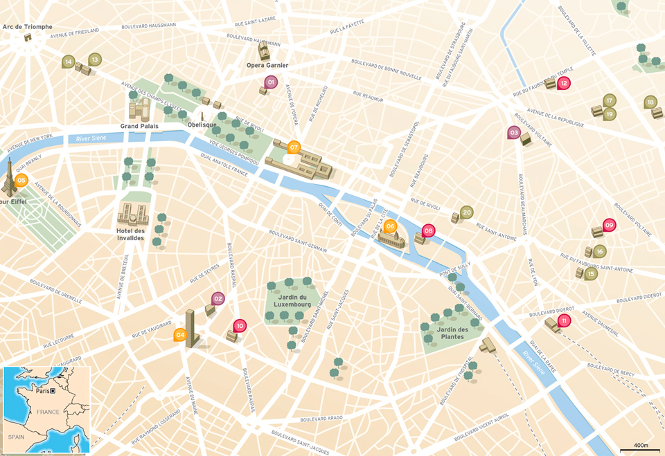 Vector Paris map
