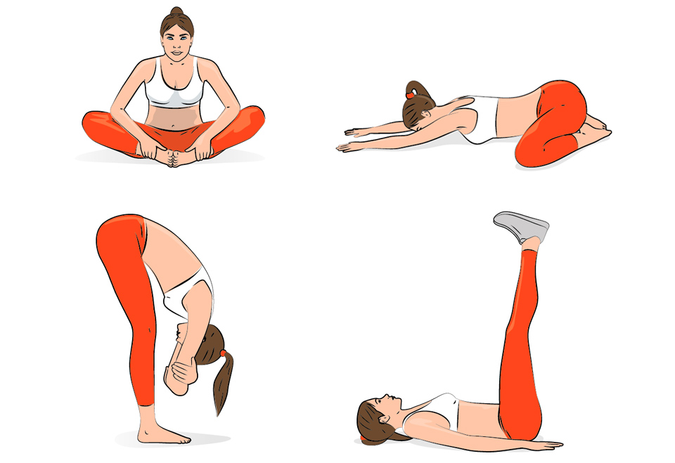 Fitness Illustrations and exercises